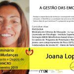 Joana Lopes no Seminário 5 Mudanças – antes, durante e depois do Cancro