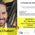 Tiago Chabert no Seminário 5 Mudanças – antes, durante e depois do Cancro
