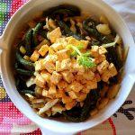 Esparguete de espinafres e espelta